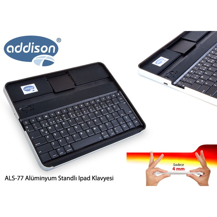 addison als 77 siyah bluetooth tablet pc pad al minyum q multimedia kablosuz klavye. Black Bedroom Furniture Sets. Home Design Ideas