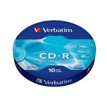 43725 - Verbatim 43725 Cd-R 10 Wrap Extra Protection 52X 700Mb