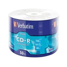 43787 - Verbatim 43787 Cd-R 50 Wrap Extra Protection 52X 700Mb