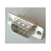 A-Ds 09 Pp/Z D-Sub 09 Poles Connector, Straight For Pcb, Phosphorbronze (Male)