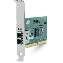 AT-2931SX/SC Gigabit Ethernet Fiber Adapter, 1000-Base-SX (SC), 64-bit PCI, Single Pack