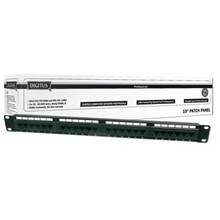 DN-91524U Digitus 19 Inch 24 Port Cat-5E UTP Patch Panel, 50 µ (Mikron), Altın Kontak, Zırhsız