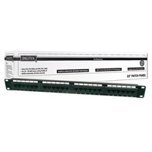 "DN-91624U Digitus 19"" 24 Port Cat-6 UTP Patch Panel, 8P8C, 50 µ (Mikron), Altın Kontak, LSA, 1U, Zırhsız"