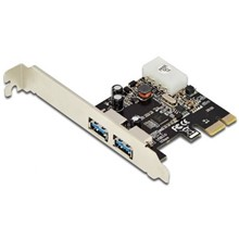 DS-30220-4 Digitus 2 Portlu PCI Express USB 3.0 Kart, NEC UPD720202 chipset Low Profile braket