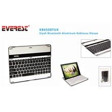 Everest Kb650Btuk Siyah Bluetooth Aluminum Q Multimedia Kablosuz Klavye