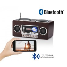 Goldmaster İdance Retromax Portable Bluetooth Hoparlör Ve Radyo