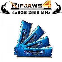 Gskıll Ripjaws4 Mavi Ddr4-2666Mhz Cl16 16Gb (4X4Gb) Quad (16-16-16-36) 1.2V