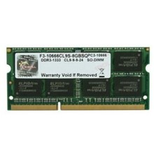 GSKILL Value DDR3-1333Mhz CL9 8GB SO-DIMM