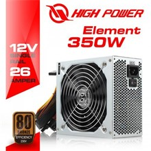 High Power Element 350W 80+ Bronze  Güç Kaynağı