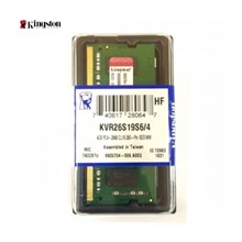 Kingston 4Gb D4 Sodımm 2666Mhz Cl19 Kvr26S19S6/4
