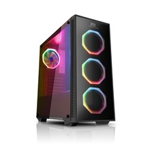 Powerboost Vk-G1007Rgb Usb 3.0 Tempered Glass Pencereli Rgb Fanlı Gaming Kasa (Psu Yok)