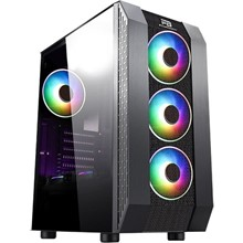 Powerboost Vk-P3305B 500W Usb 3.0 Atx, Mesh, Fixed Led Fan Siyah Kasa