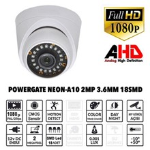 Powergate Neon-A10 2MP 18 Adet Led 30MT Gece Görüşü 3.6MM Lens Plastik Dome Kamera