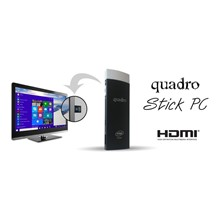 QUADRO Stick PC Quad Core Z3735 1.83Ghz 2GB 32GB Android + Win 10 BT4.0 Wi-Fi