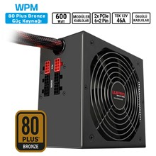Sharkoon Wpm600 600W 80+Bronze Atx Modüler Psu