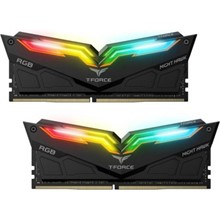 T-Force 16 Gb Ddr4 3000 Nıght Hawk Rgb Black 8Gx2 Team Tf1D416G3000Hc16Cdc01