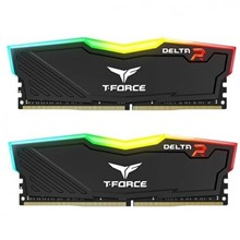T-Force 16 Gb Ddr4 3200 Mhz Delta Rgb Black 8Gbx2 Team Tf3D416G3200Hc16Cdc01