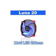 Thermaltake Luna Anti-Vibration 200 Mm Mavi Ledli Sessiz Fan