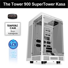 Thermaltake The Tower 900 E-Atx Full Tower Super Gaming Computer Case, White