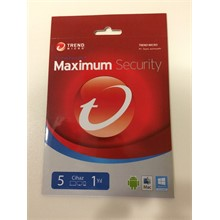 TREND MICRO MAXIMUM SECURITY 5 KULL 1 YIL