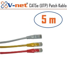 V-Net Cat5E Utp 5M Patch Kablosu