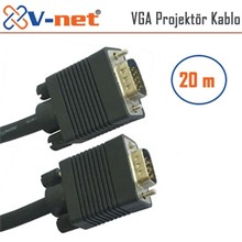 V-Net Vga 20M Video Projektör Kablosu, Gold Plated