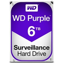 WD 6TB 3.5'' 64MB Sata 6Gb/s 7/24 Purple WD60PURX